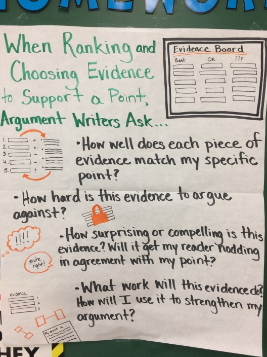 Teaching Chart- String of Quotes- Evaluate Evidence