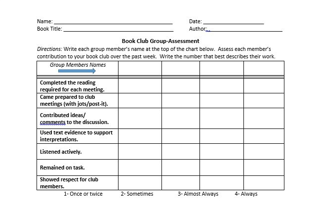 Book Club Group Assessment